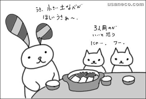 うさねこ.com_湯豆腐_土鍋20100130_1
